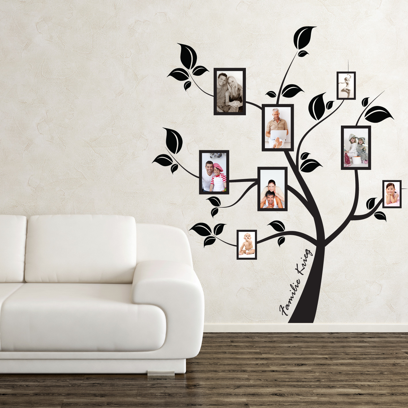 arborele familiei sticker perete stickere perete. Black Bedroom Furniture Sets. Home Design Ideas